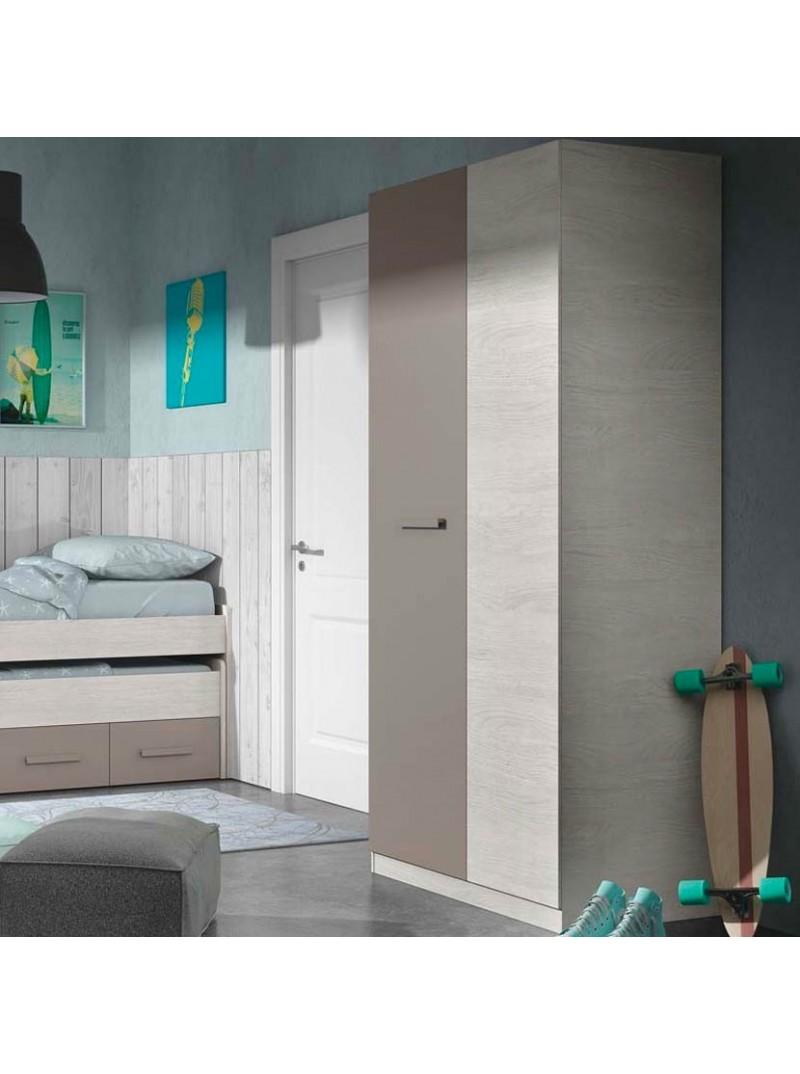 Armario juvenil 2 puertas y 3 estantes