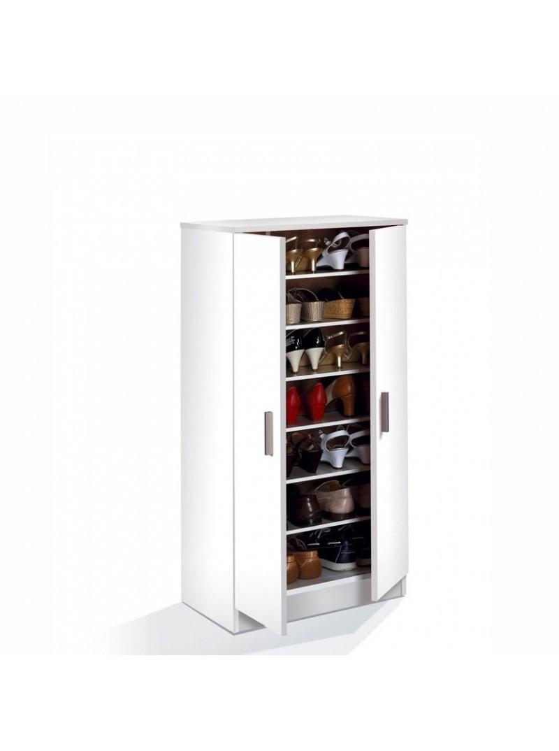 Zapatero armario baldas. Blanco