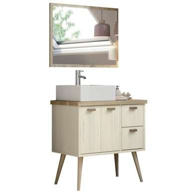 Mueble baño nórdico vintage...
