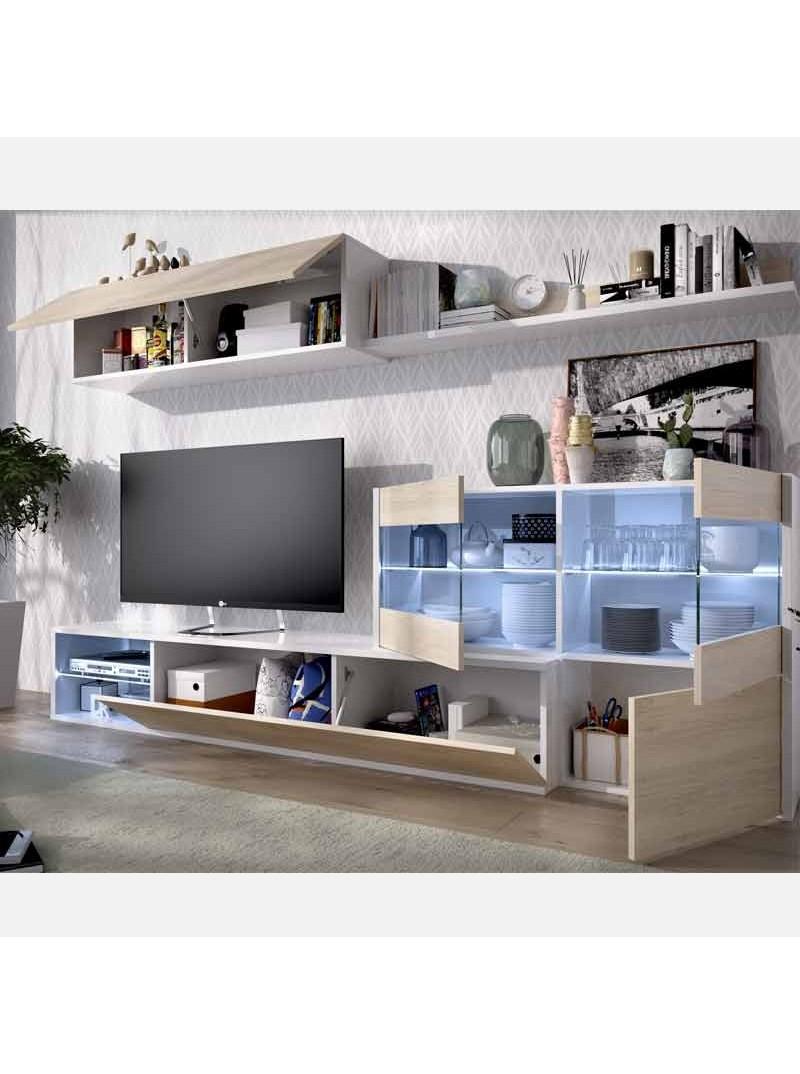 Mueble salon moderno luz LED Umas