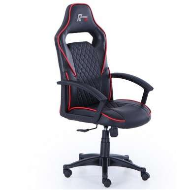 Silla Gamer Design negra y...