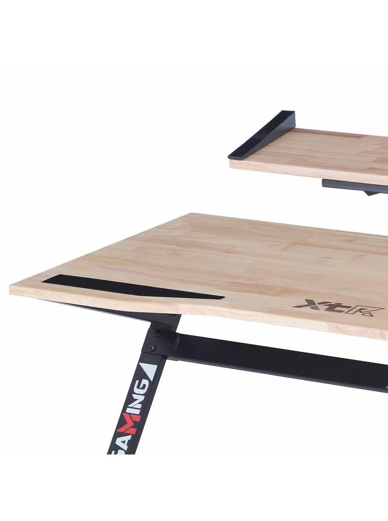 Mesa Gaming Pro negra y madera