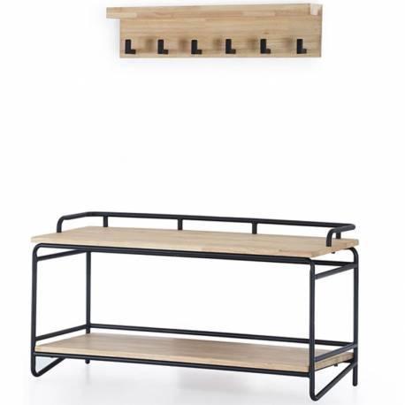 Recibidor industrial Plank roble
