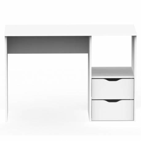 Mesa escritorio Eko 2 cajones color blanco