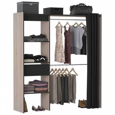 Vestidor negro y roble Chic...