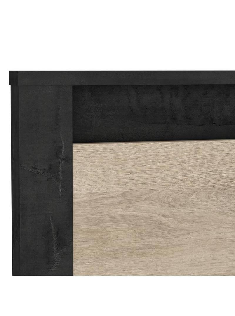 Cama negro y roble 160x200 Urano