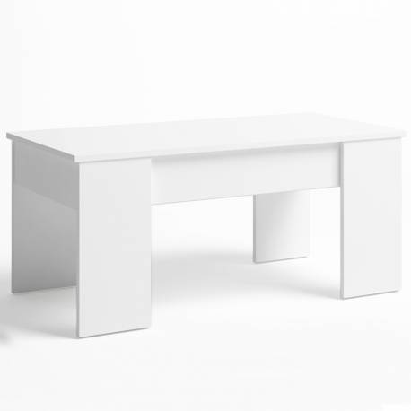 Mesa centro elevable Low color blanco mate