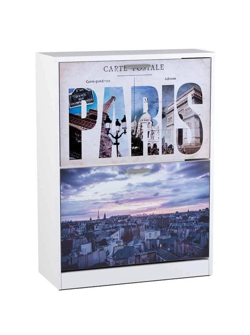 Zapatero París 2 puertas abatibles recibidor