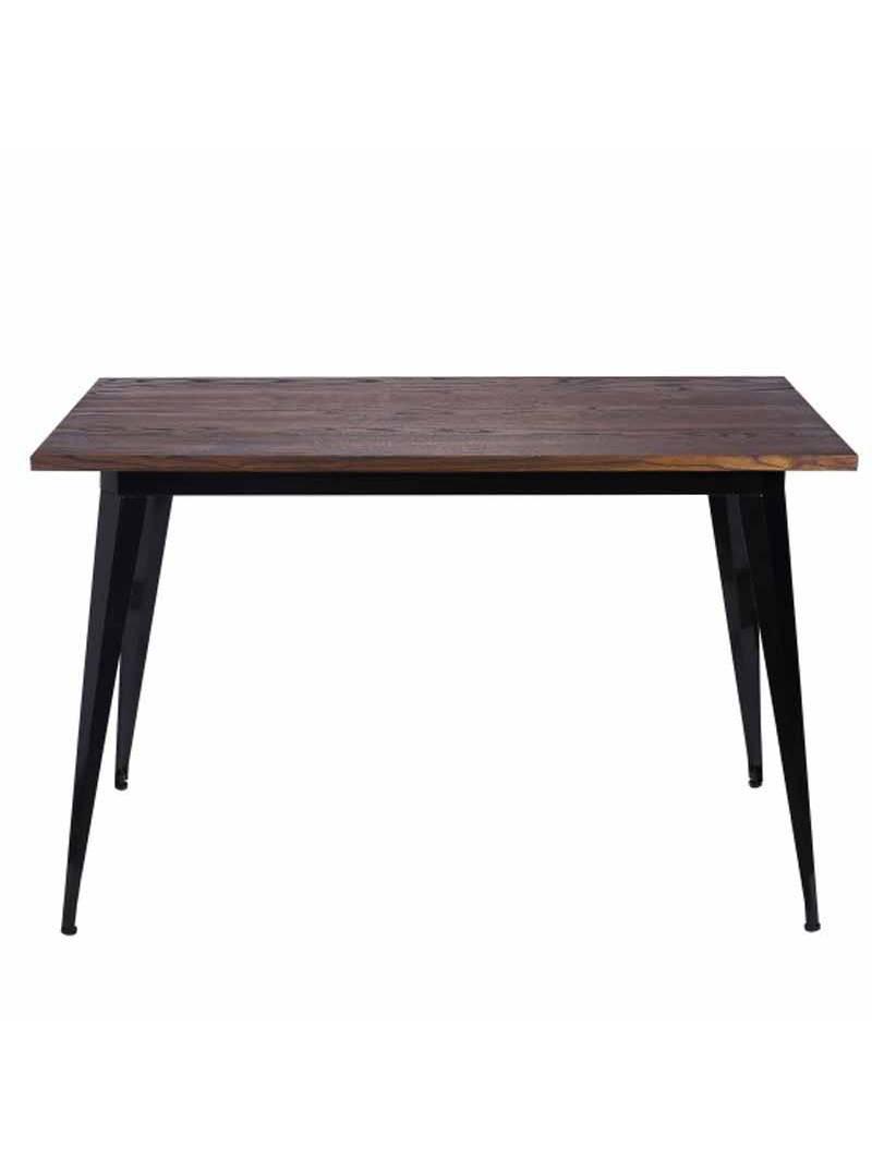 Mesa estilo industrial negra cocina
