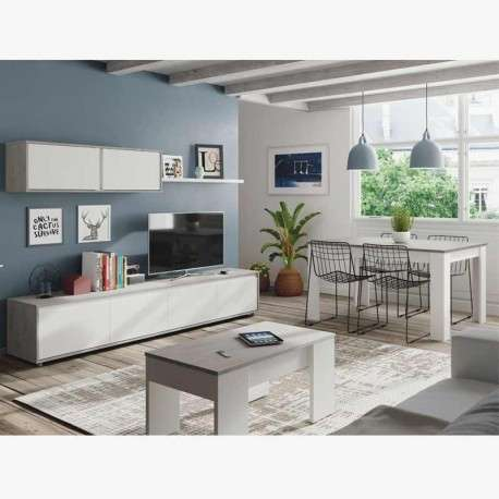 Pack muebles salón Cemento