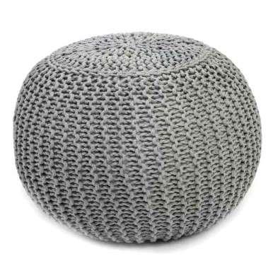 Puff tejido gris