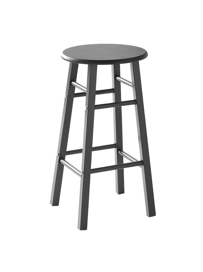 Mesa alta con 2 taburetes negro gris