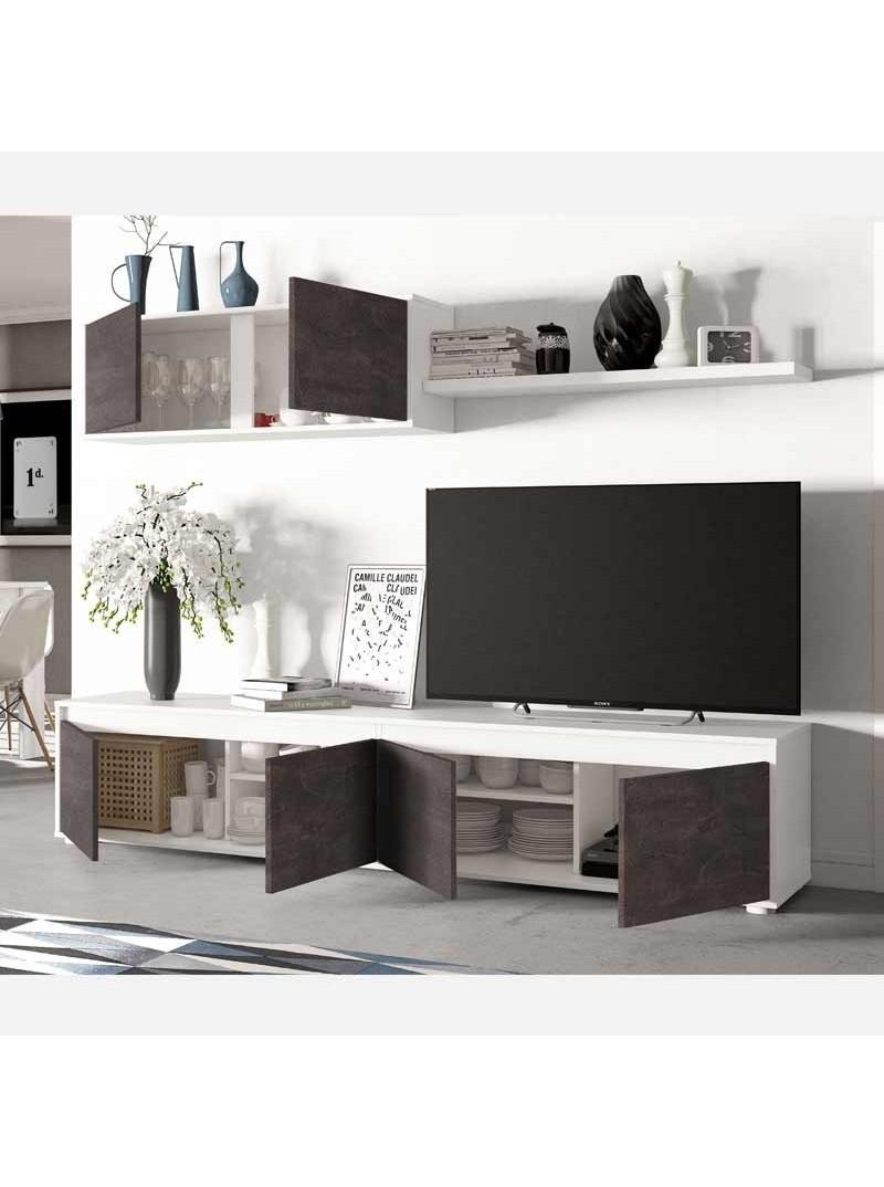 Mueble salón modular TV Andy óxido