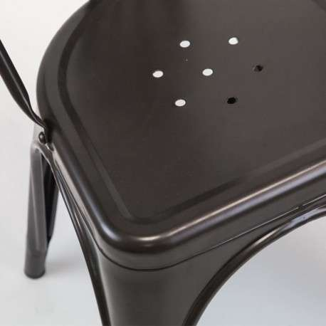 Silla metal negro Xavier industrial