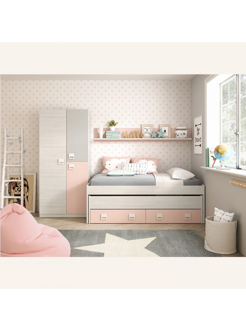 Pack dormitorio niña nube rosa 2