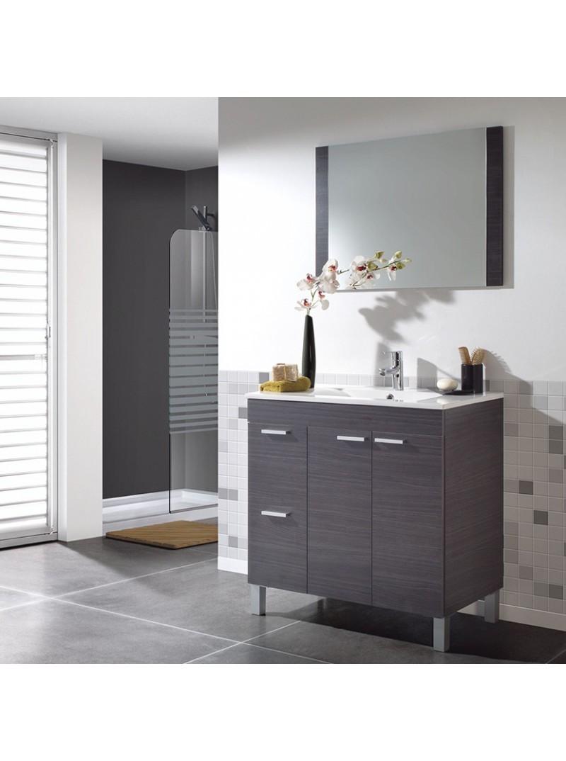 Mueble de aseo y espejo sin lavamanos Sabel