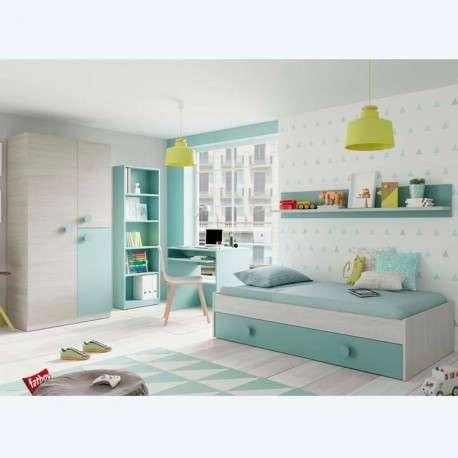 Pack dormitorio juvenil Menta.